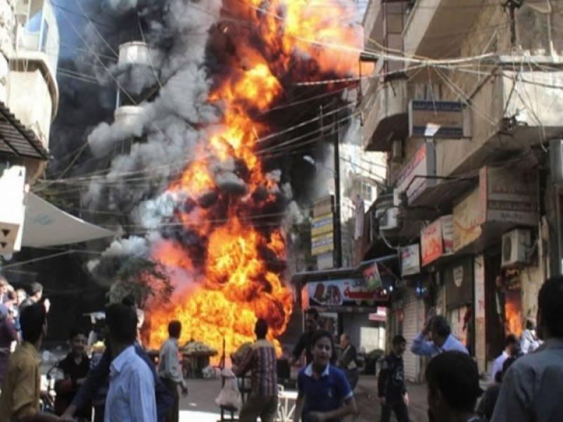 شامی فوج کی اسکول پر بمباری، 6 بچوں سمیت 10 افراد ہلاک