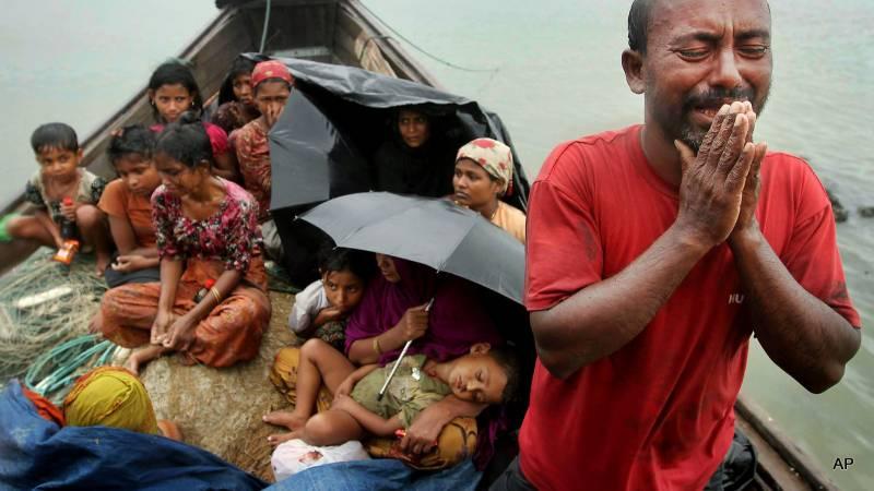 میانمار کے سیکڑوں روہنگیا مسلمانوں کی بنگلادیش ہجرت