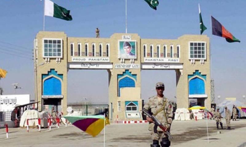 چمن میں پاک افغان سرحد باب دوستی پر پرچم اتارنے کی پہلی بار پر وقار تقریب
