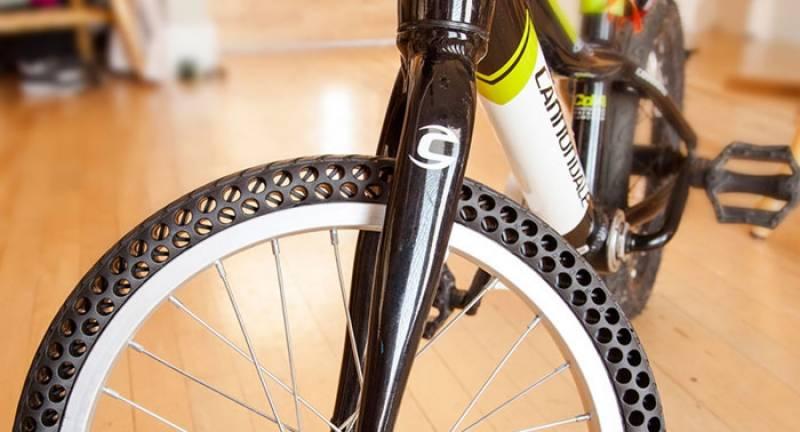 سائیکل کے ایسے ٹائر جو کبھی پنکچر نہ ہو