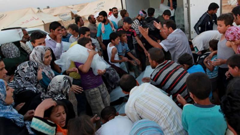 اردن کی سرحد پر موجود 85 ہزار شامیوں کے لیے امداد بحال