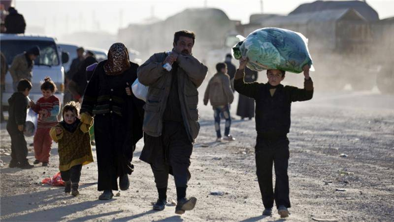 حلب میں باغیوں کے زیر انتظام علاقوں سے ہزاروں شہریوں کی نقل مکانی