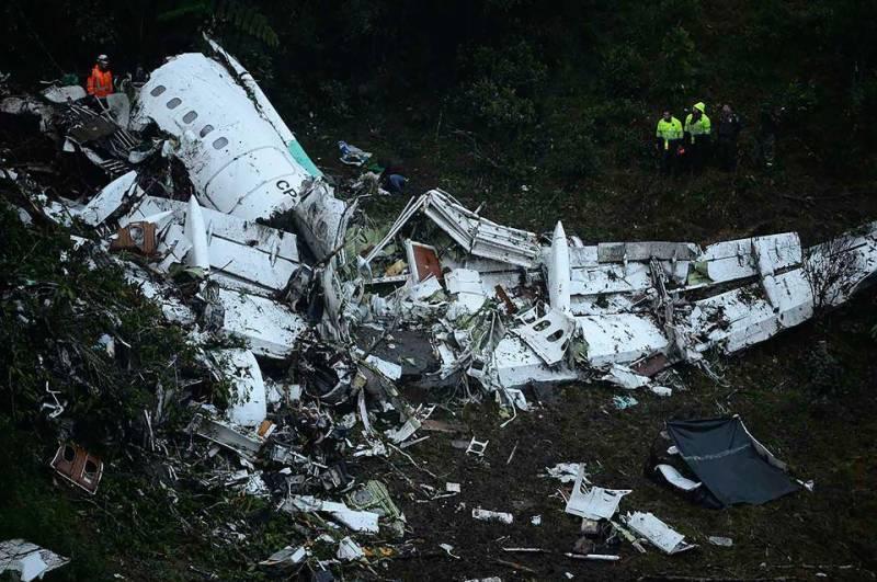 کولمبیا میں برازیل کا طیارہ گرنے کی وجوہات سامنے آگئیں