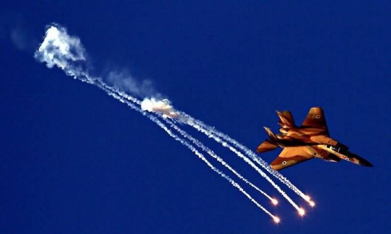 شام میں فوجی قافلے پر اسرائیلی لڑاکاطیاروں کا حملہ
