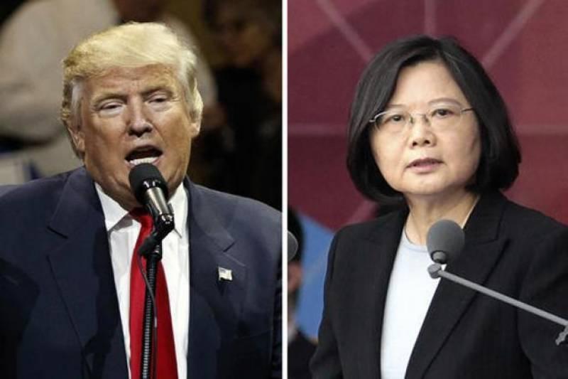 ڈونلڈ ٹرمپ اور تائیوان کی صدر کے درمیان ٹیلی فونک رابطہ،چین برہم