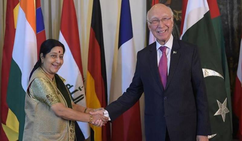 ہارٹ آف ایشیا کانفرنس ، سرتاج عزیز بھارت پہنچ گئے، مودی سے ملاقات متوقع