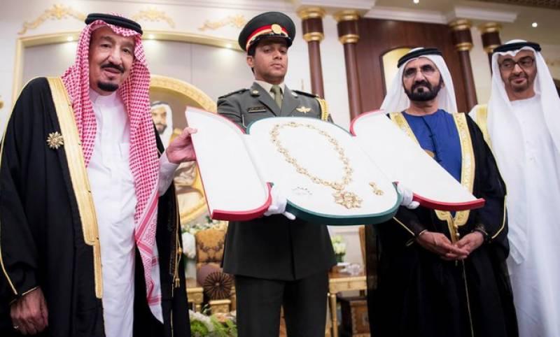 سعودی فرمانروا شاہ سلمان کو متحدہ عرب امارات کےسب سے بڑے سول ایوارڈ سے نوازا گیا