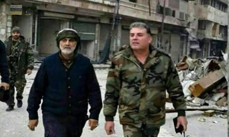 حلب پر قبضے کے بعد ایرانی جنرل سلیمانی کا شہر میں تازہ مٹر گشت