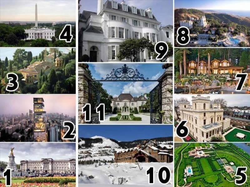 دنیا کے 11 مہنگے ترین مکانات اور ان کے مکین