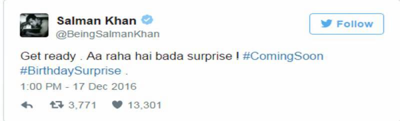 اپنی سالگرہ پر سلمان خان کا مداحوں کو بڑا تحفہ دینے کا اعلان
