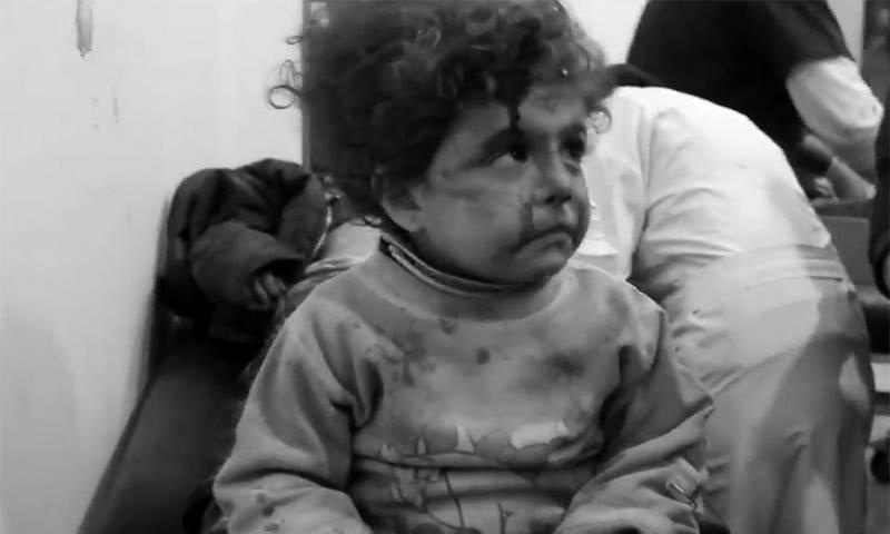 شام کی جنگ، بچوں کی آنکھوں میں آنسو خشک ہوگئے