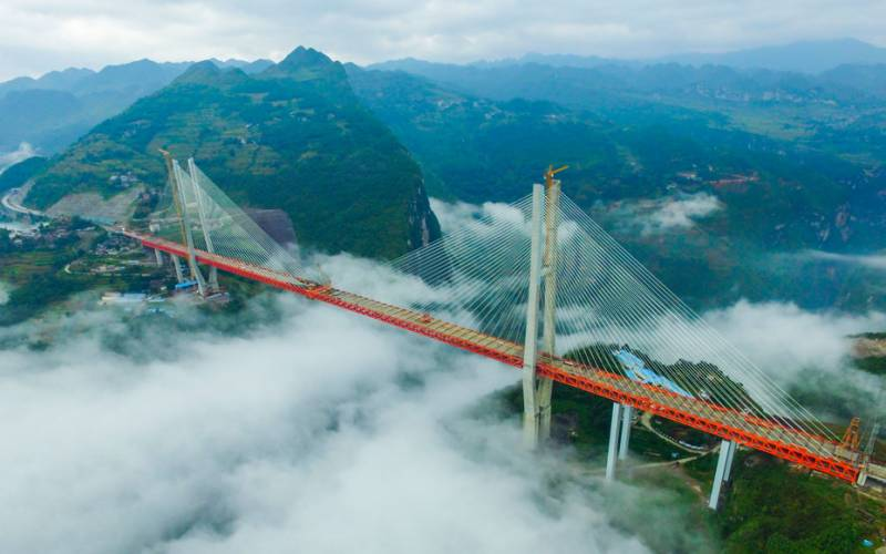 چین میں دنیا کے بلند ترین پل کا افتتاح کر دیا گیا