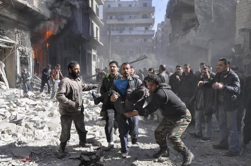 پانی کی جنگ،شامی فوج کی دمشق کی بردی کالونی پر درجنوں فضائی حملے