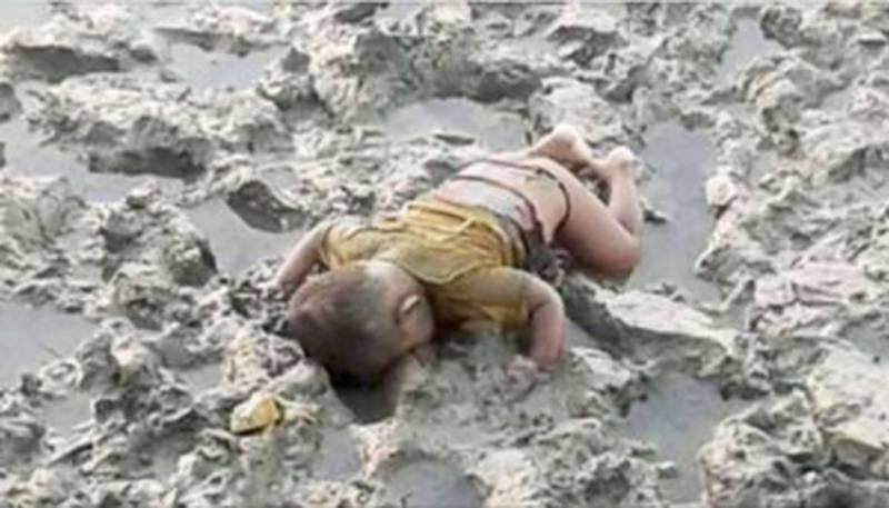 روہنگیا مسلم بچے کی تصویر نے شامی بچے