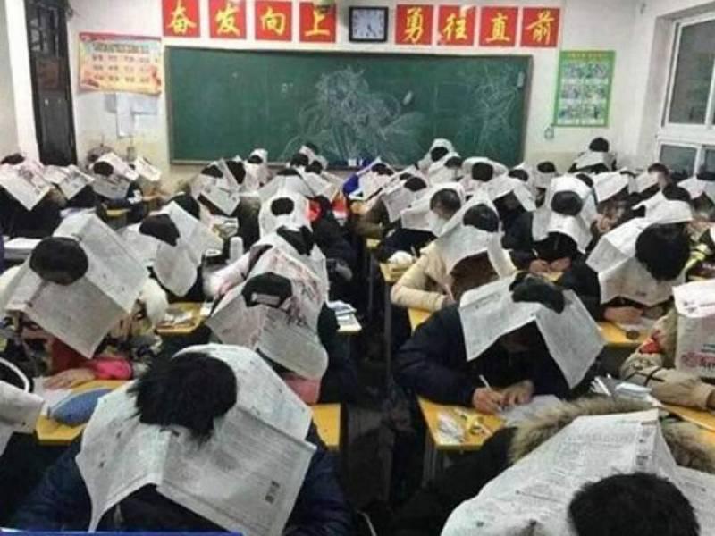 طلبا کو نقل سے روکنے کیلئے استاتذہ کا انوکھا طریقہ!