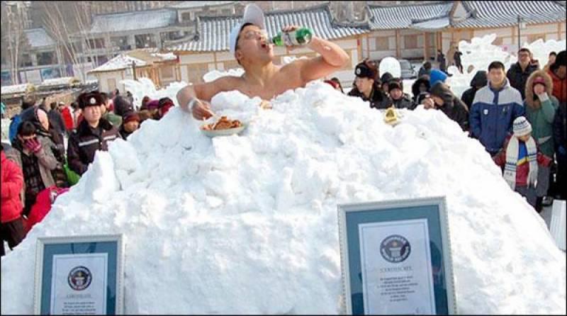 برف میں رہنے کا نیا عالمی ریکارڈ