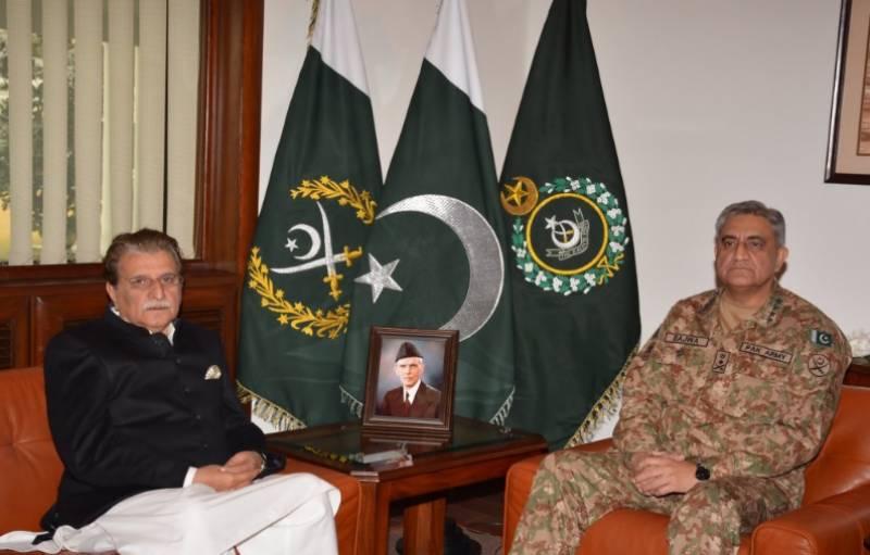 آرمی چیف سے وزیر اعظم آزاد کشمیرکی ملاقات، کنٹرول لائن کی صورتحال ,دیگر معاملات پر تبا دلہ خیال