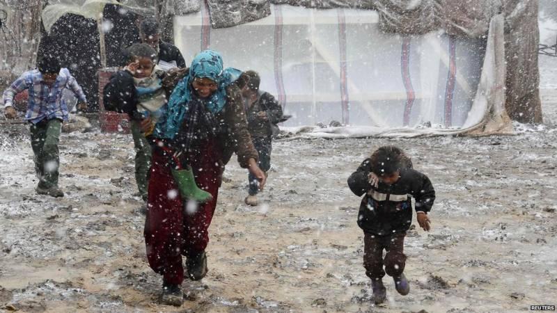 یورپ میں شدید سردی، 23 ہزار مہاجر بچوں کی زندگیاں خطرہ لاحق