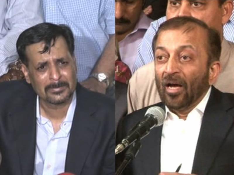 کراچی یونیورسٹی نے بھائی کو بھائی سے ملادیا ,فاروق ستار نے مصطفیٰ کمال سے ملاقات کو حسن اتفاق قرار دیدیا