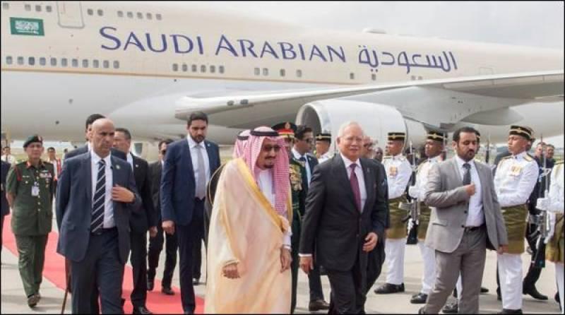سعودی بادشاہ چار روزہ دورے پر ملائشیا پہنچ گئے