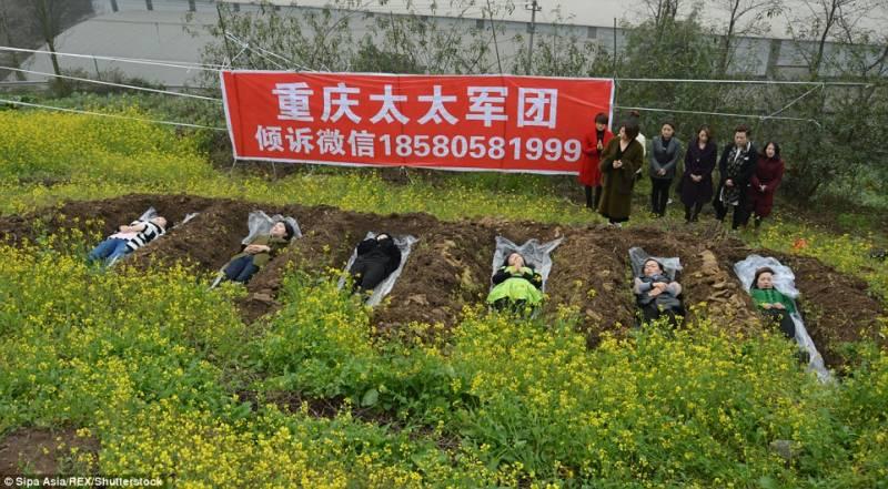 طلاق کے بعد قبر میں مراقبہ خواتین کو ذہنی سکون دیتا ہے،چینی خاتون