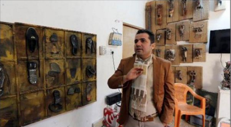 عراق: داعش کے قبضے سے حاصل شدہ اشیا عوا م کے سامنے پیش