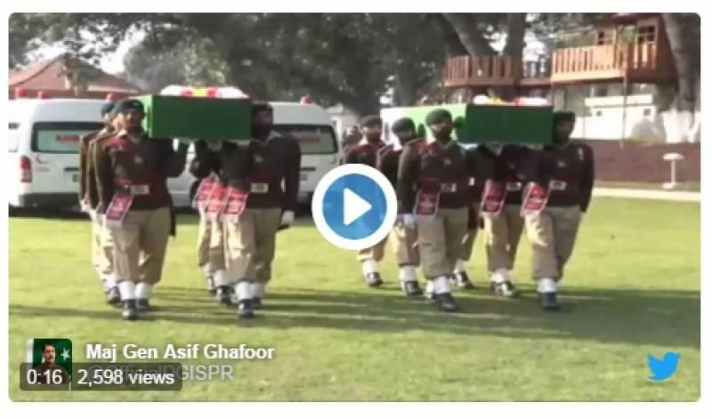 آپریشن ردالفساد : شہید لیفٹننٹ راجہ خاوراورنائیک شہزاد کی نماز جنازہ ادا