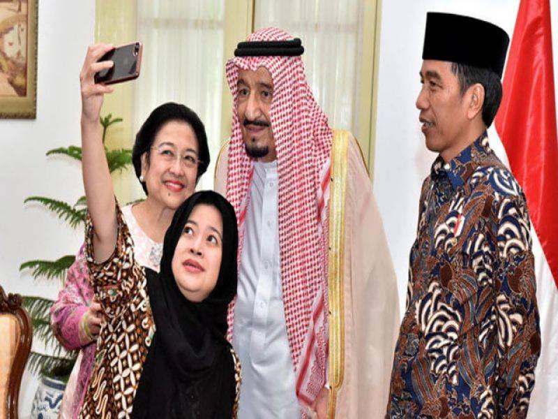 شاہ سلمان کی وزیرثقافت اور انکی بیٹی کے ساتھ سلیفی کی دھوم