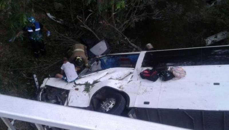 پانامہ میں بس حادثے میں کم از کم 16 مزدورہلاک اور 35 دیگر زخمی ہو گئے
