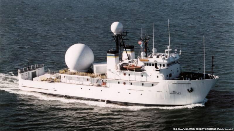 خلیج فارس ایرانی جہازوں نے امریکی جہاز کو راستہ بدلنے پر مجبور کر دیا