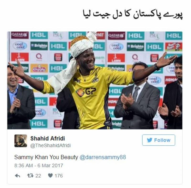 ڈیرن سمی پاکستان سُپر لیگ 2017 کے سُپر اسٹار