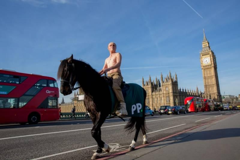 ٹرمپ اورپیوٹن ایک ساتھ لندن کی سڑکوں پر،دنیا حیران پریشان