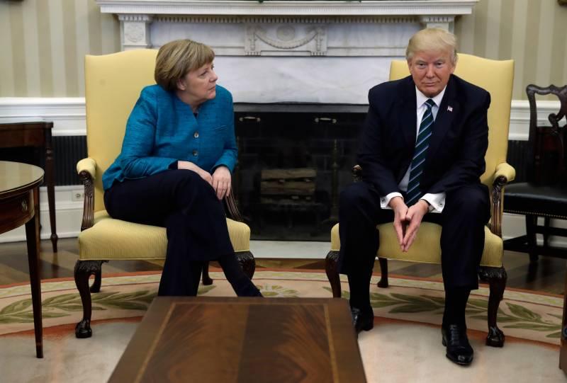ڈونلڈ ٹرمپ نے جرمن چانسلر سے ہاتھ ملانے سے انکار کر دیا