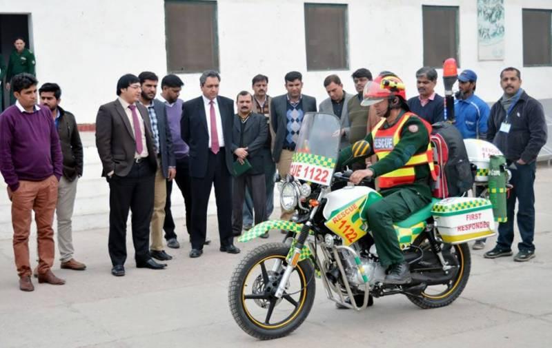 راولپنڈی میں 100موٹر بائیکس ایمبولینسز چلائی جائیں گی