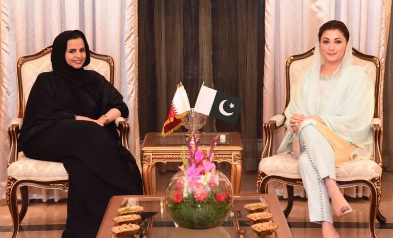 مریم نوازشریف کی قطری شاہی خاندان کی شیخا دانا بنت حمد سے ملاقات