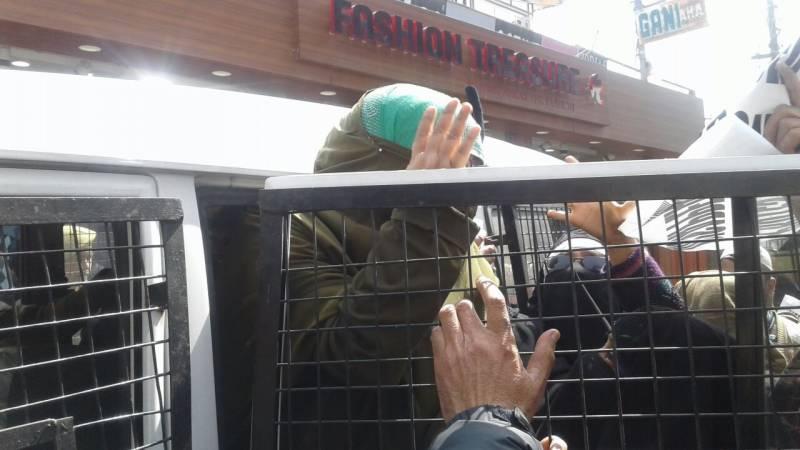 حریت رہنما فریدہ بہن جی پارٹی رہنماﺅں سمیت گرفتار