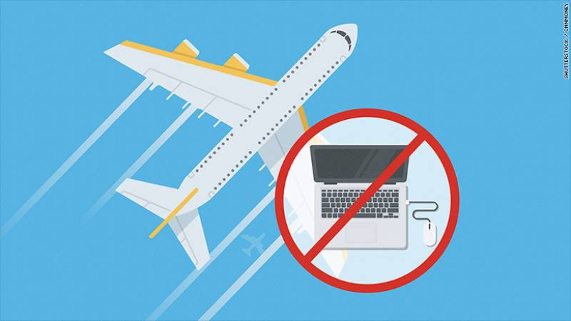 ٹرمپ انتظامیہ نےدرجنوں ائرلائنز پر الیکٹرانک اشیاء لانے پر پابندی کا فیصلہ کر لیا