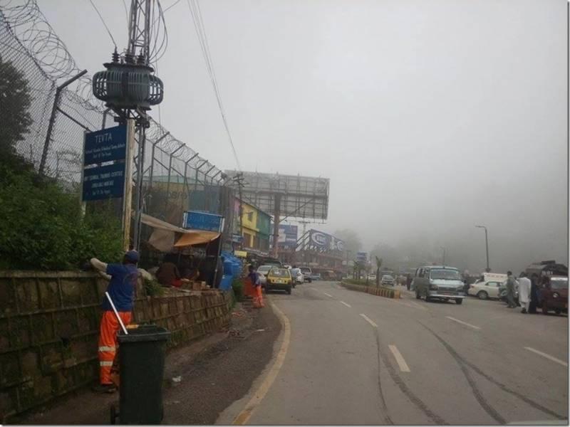 مری ایبٹ آباد ، مانسہرہ میں بارش، رات کو موسم سرد رہا ، سورج نکلتے ہی گرمی لوٹ آئی