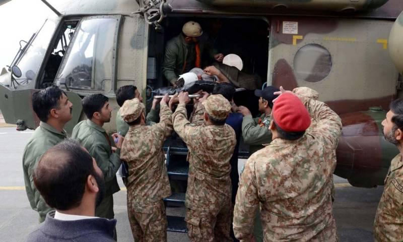 کور کمانڈر پشاور لیفٹیننٹ جنرل نذیر احمد بٹ کا پاراچنار کا دورہ