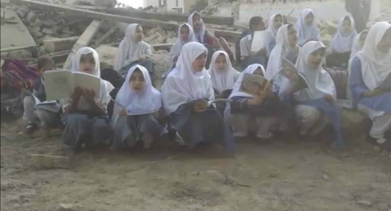 کراچی میں قبضہ مافیا سرگرم، سرکاری اسکول کی قومی ورثہ قرار دی جانیوالی عمارت مسمار