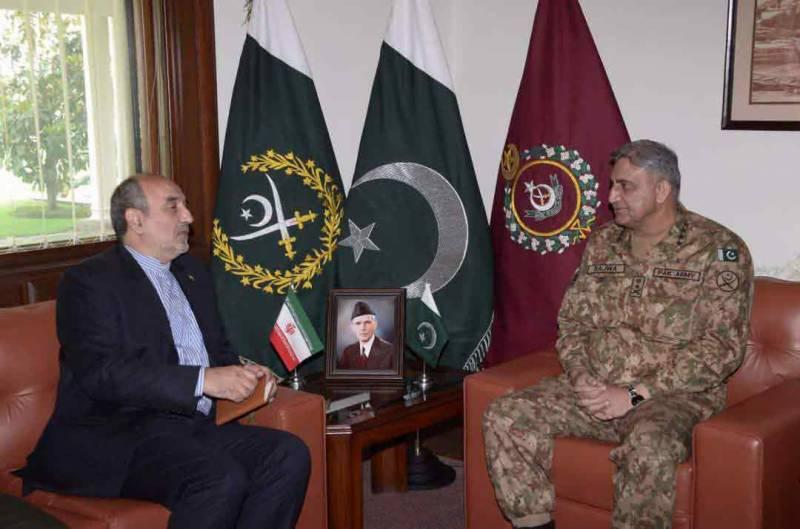 آرمی چیف سے ایرانی سفیر کی ملاقات، اہم امور پر تبادلہ خیال