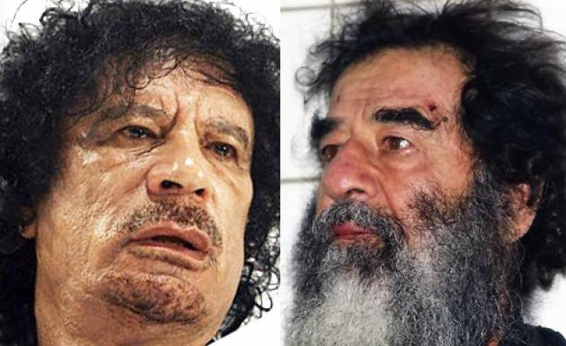 قذافی نے صدام حسین کو عراق سے اسمگل کرنے کی کوشش کی تھی،نیاانکشاف