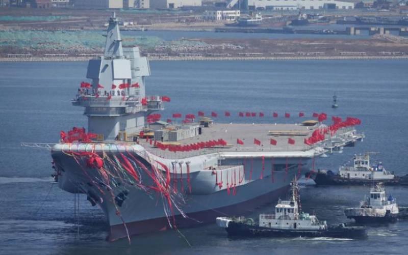چین نے پہلا مقامی طور پر تیار کردہ بحری بیڑا سمندر میں اتار دیا