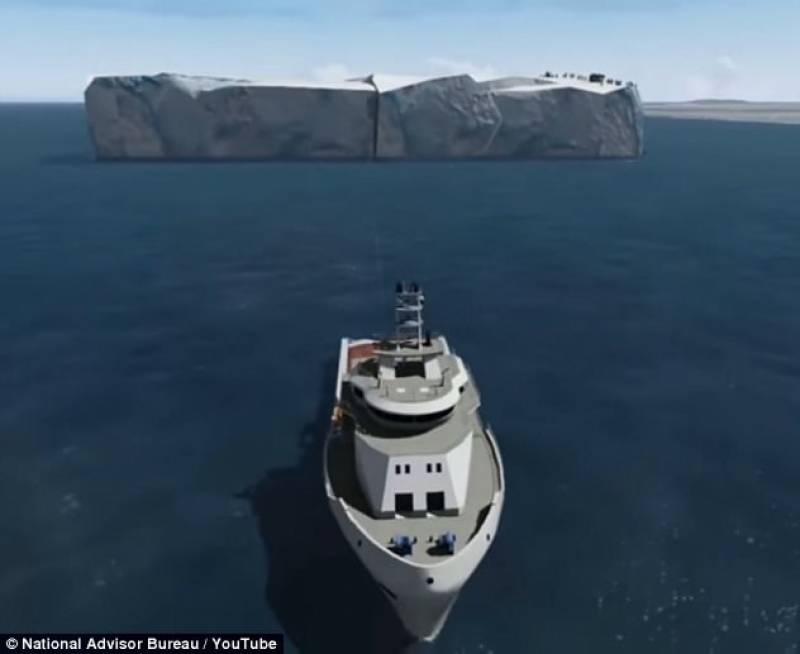 متحدہ عرب امارات , انٹارکٹیکا سے برفانی تودہ منتقل کرنے کا منصوبہ شروع