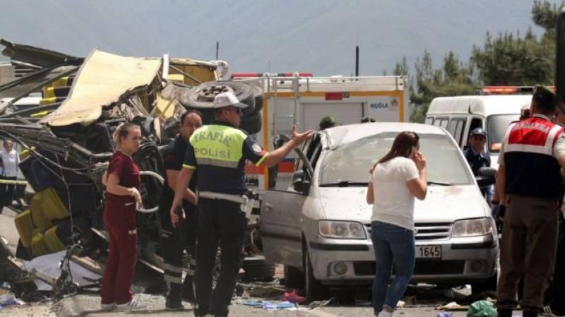 ترکی میں سیاحوں کی بس کو حادثہ، 20افراد ہلاک، 11زخمی