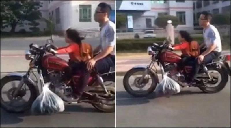 نبھی بچی کی موٹر سائیکل چلاتے ویڈیو سوشل میڈیا پر وائرل