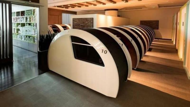 """دبئی کے ہوائی اڈے پر سونے کے ہال """"سلیپ اینڈ فلائی"""" کا افتتاح"""