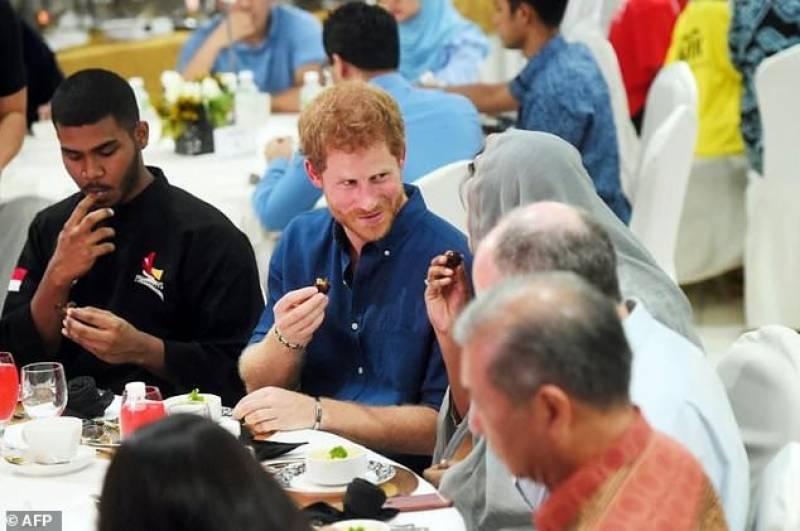 برطانوی شہزادے ہیری کی سنگا پور میں افطار پارٹی