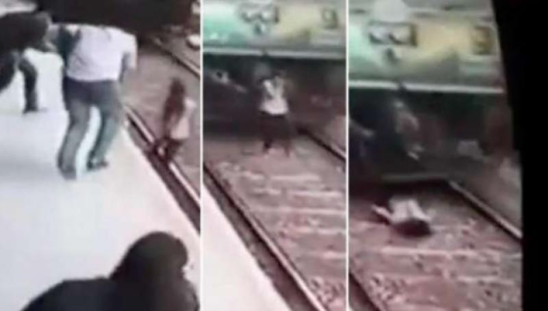 بھارت میں تیز رفتار ٹرین کی زد میں آنے والی لڑکی معجزانہ طور محفوظ رہی