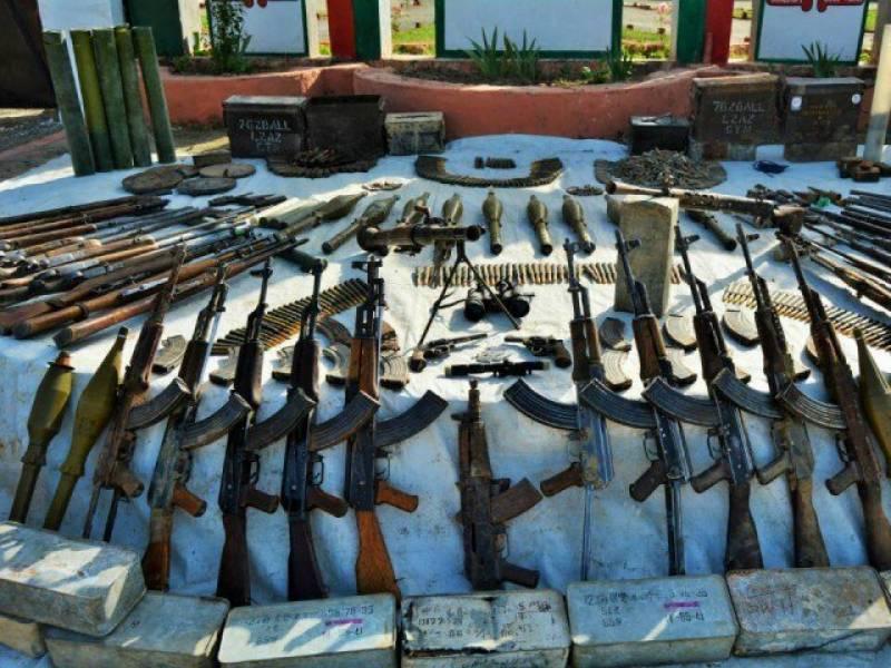 آپریشن رد الفساد، جنوبی اور شمالی وزیرستان سے اسلحہ وگولہ بارود بر آمد